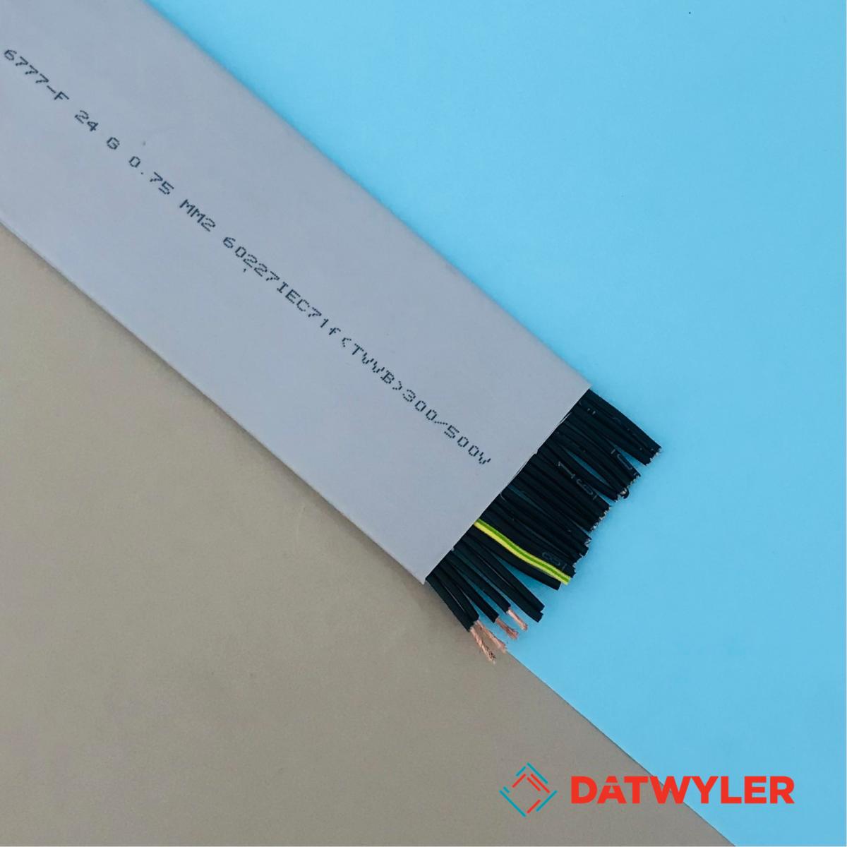 Dây cáp điện (dây Cordon) thang máy DATWYLER <BR> 24 ruột