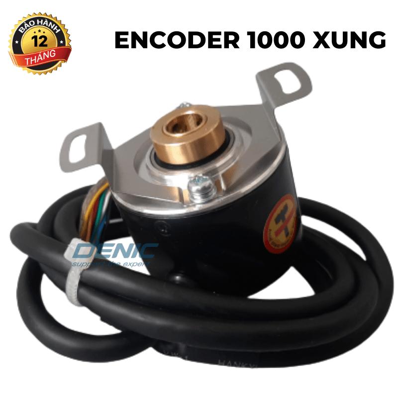 Encoder 1000 xung ABZ, 5-24v, trục lõm 8 mm