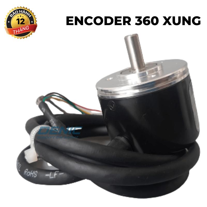 Encoder 360 xung<br>ABZ, 5-24v, trục lồi 8 mm
