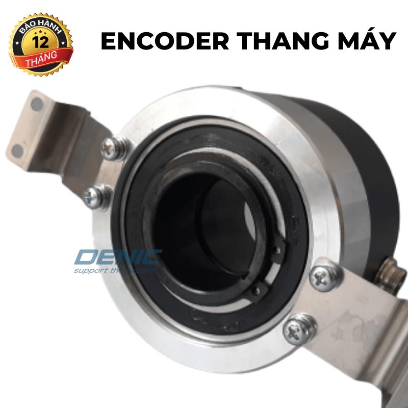Encoder thang máy<br> trục lõm 40 mm, 1024 xung A,B, 15v