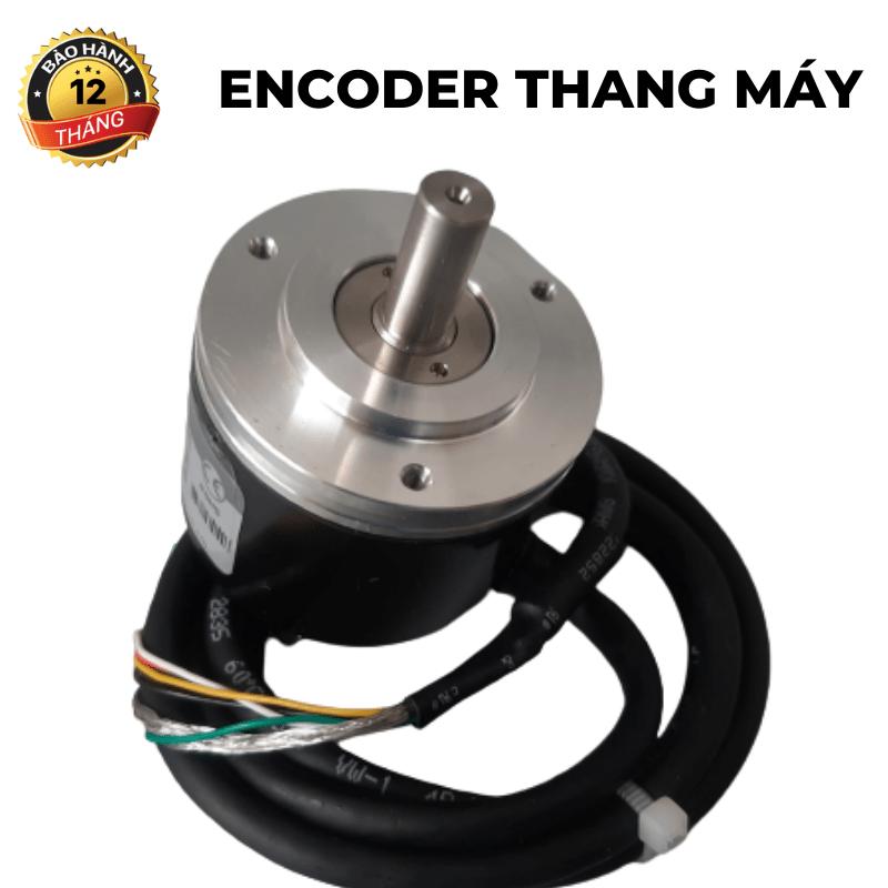 Encoder thang máy<br>trục dương 6, 1024 xung ABZ, 5-24v