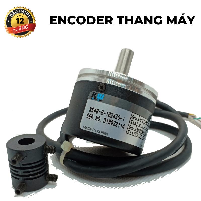 Encoder thang máy<br>trục lồi 8 mm, 1024 xung A,B,Z, 5-24v