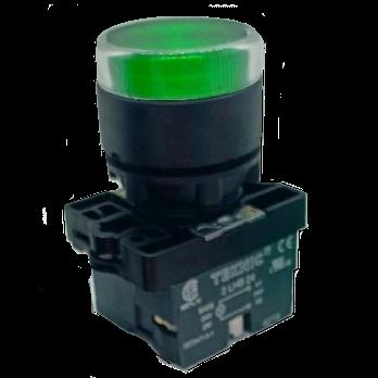 Nút nhấn tự giữ có đèn 220V 24V phi 22