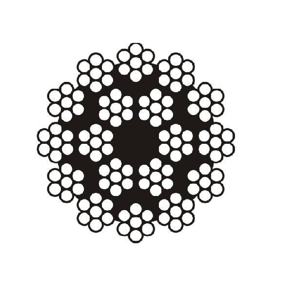 Cáp thép cẩu tháp - 18x7 <br />Line Metal