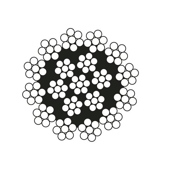 Cáp thép cẩu tháp - 19x7 <br />Line Metal