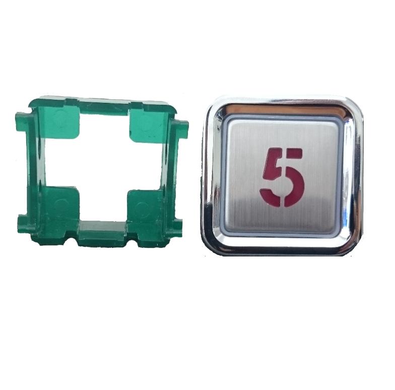 Nút nhấn thang máy hình vuông_3234_led đỏ