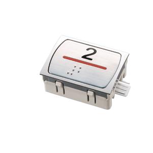 Nút nhấn thang máy hình chữ nhật_AR_led đỏ