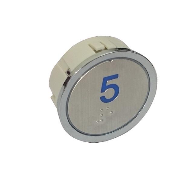 Nút nhấn thang máy hình tròn_BA-4 Blue_led xanh