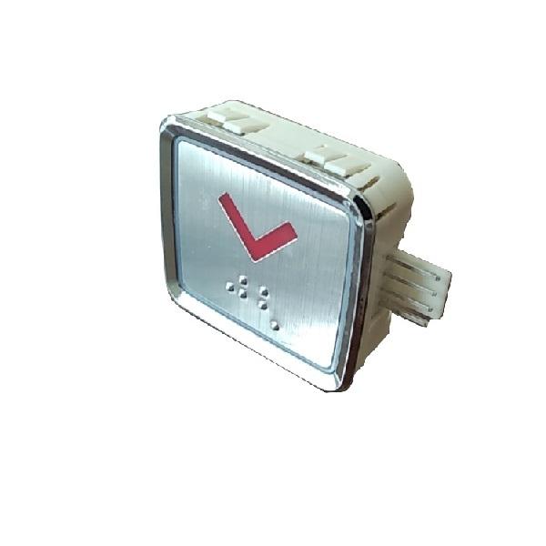 Nút nhấn  thang máy hình chữ nhật_BQ_led đỏ