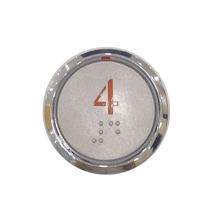 Nút nhấn thang máy hình tròn_CG35_led cam