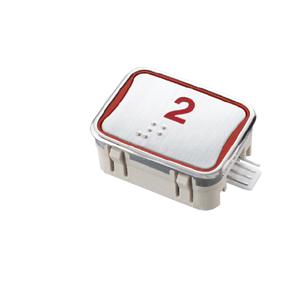 Nút nhấn thang máy hình chữ nhật_J-1_led đỏ