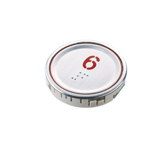 Nút nhấn thang máy hình tròn siêu mỏng_J-3 (UltraSlim)_led đỏ