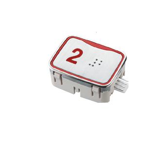 Nút nhấn thang máy hình chữ nhật_SIGMA_led đỏ