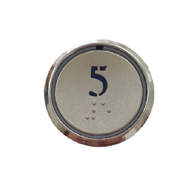 Nút nhấn thang máy hình tròn_CG35_led xanh