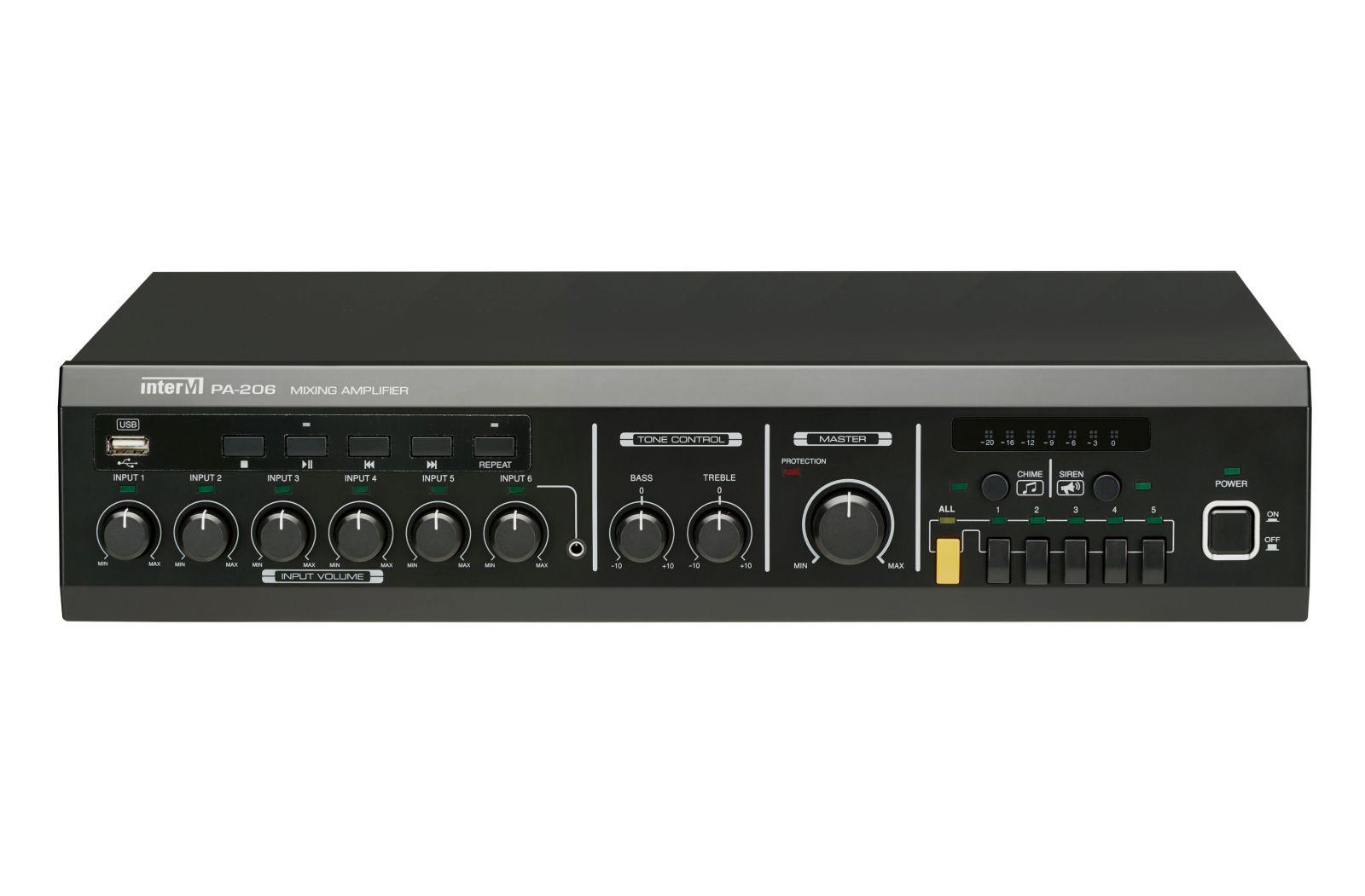Amply 60W 5 vùng loa có trình phát USB - PA-206