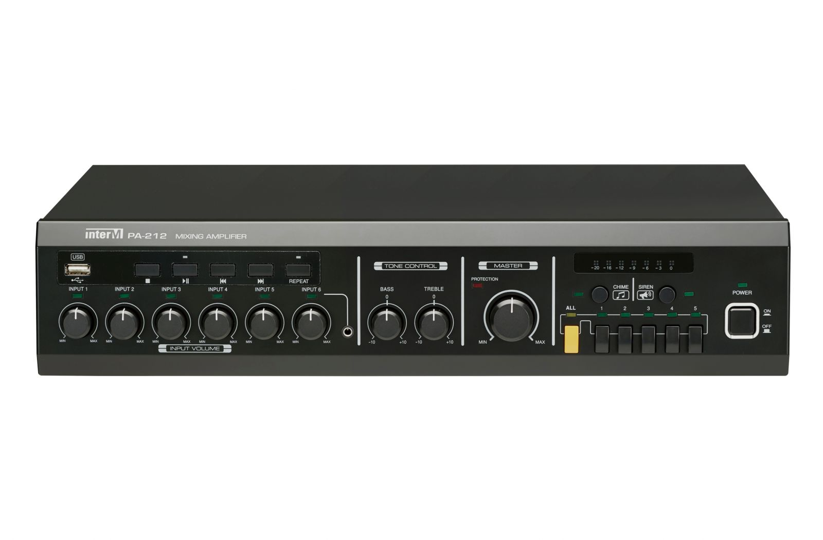 Amply 120W 5 vùng loa có trình phát USB - PA-212
