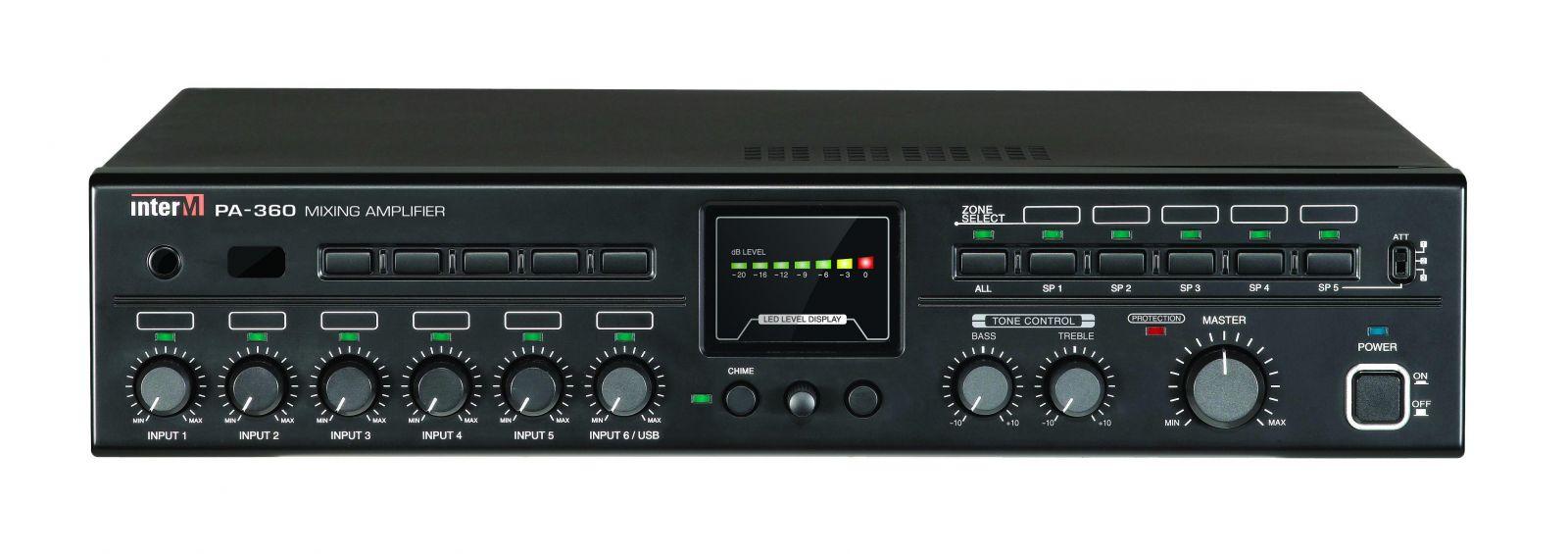 Amply 360W 5 vùng loa - PA-360