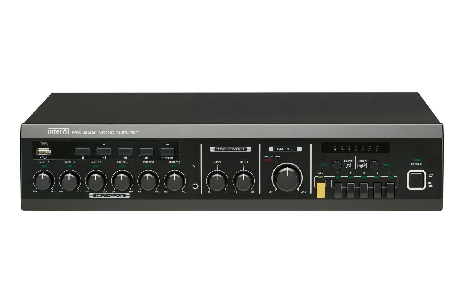Amply 360W 5 vùng loa có trình phát USB - PM-236