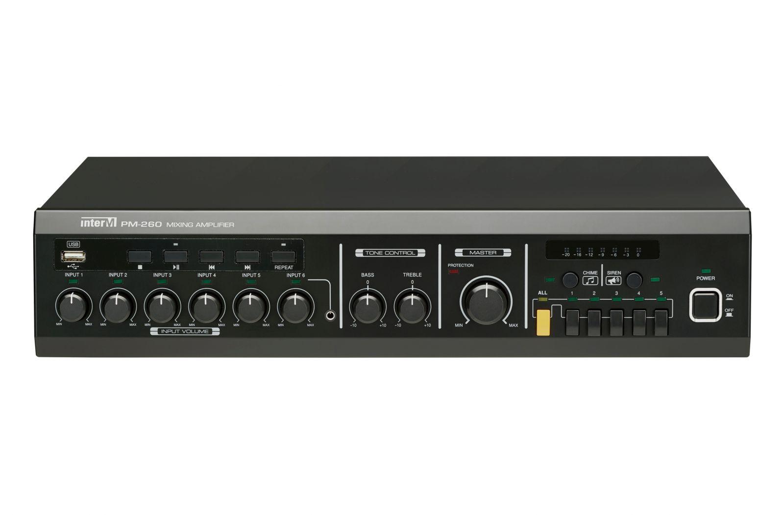 Amply 600W 5 vùng loa có trình phát USB - PM-260