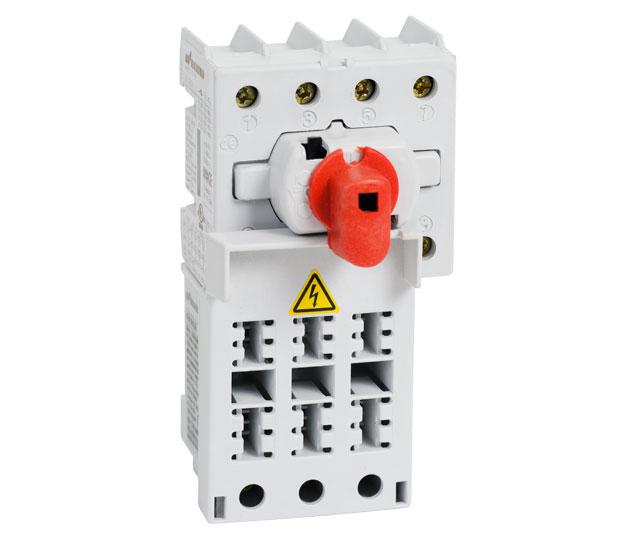 KKV 16-32A Isolator, công tắc nguồn có cầu chì bảo vệ