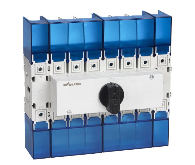 KKV 16-32A Isolator, công tắc chuyển mạch gắn Dinrail KU 100 -160A