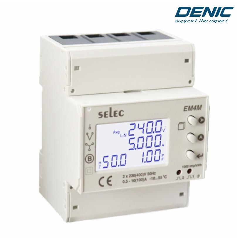 Đồng hồ đa chức năng đo trực tiếp - EM4M-3P-C-100A-CE