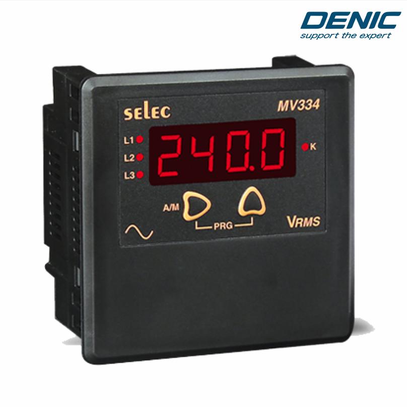 Đồng hồ đo điện áp volt trung thế và hạ thế LED MV334 (96x96)