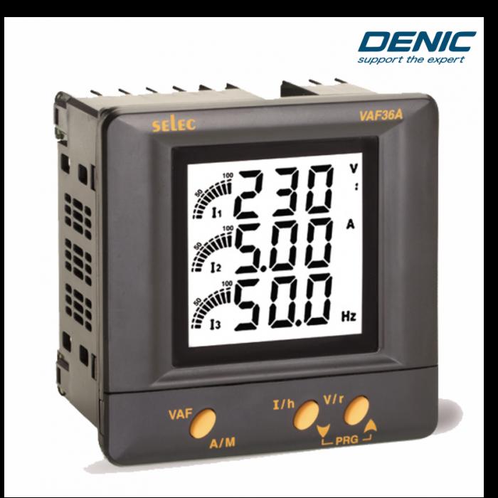 Đồng hồ đo điện áp, dòng điện và tần số VAF36