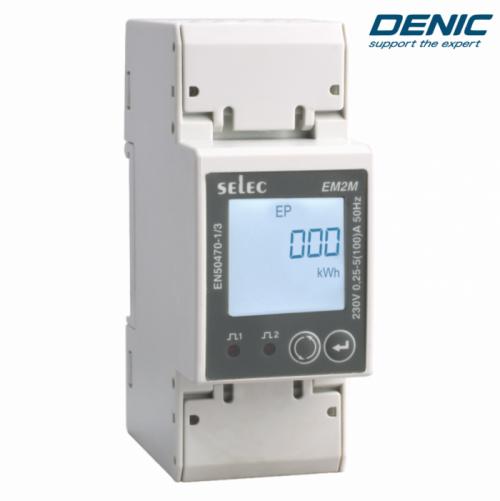 Đồng hồ đo công suất 1 pha và đo điện đa năng EM2M-1P-C-100A-CE