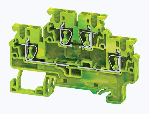 Cầu đấu dây điện nối đất dạng kẹp 2 tầng CXDLG2.5