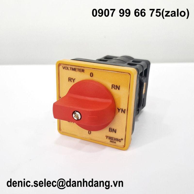Công tắc chuyển mạch điện áp dây ba pha+ điện áp pha ba pha + 1 OFF